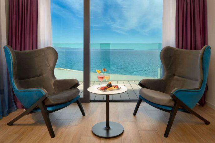 Hotel Amphora suite luxury accommodation in Split Croatia on the beach