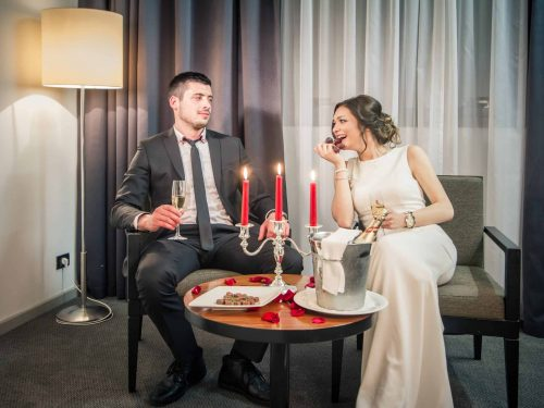 Hotel Atrium romantic dinining for two in the city center Split Croatia