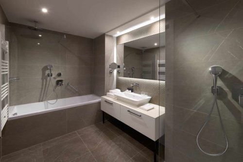 Executive suite luxury bathroom Croatia Amphora hotel