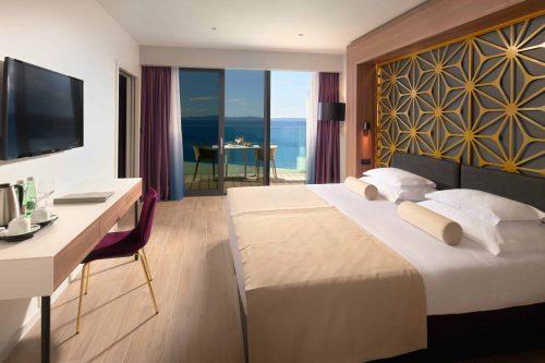 Amphora beach hotel in Split Croatia king size bed in Superior room